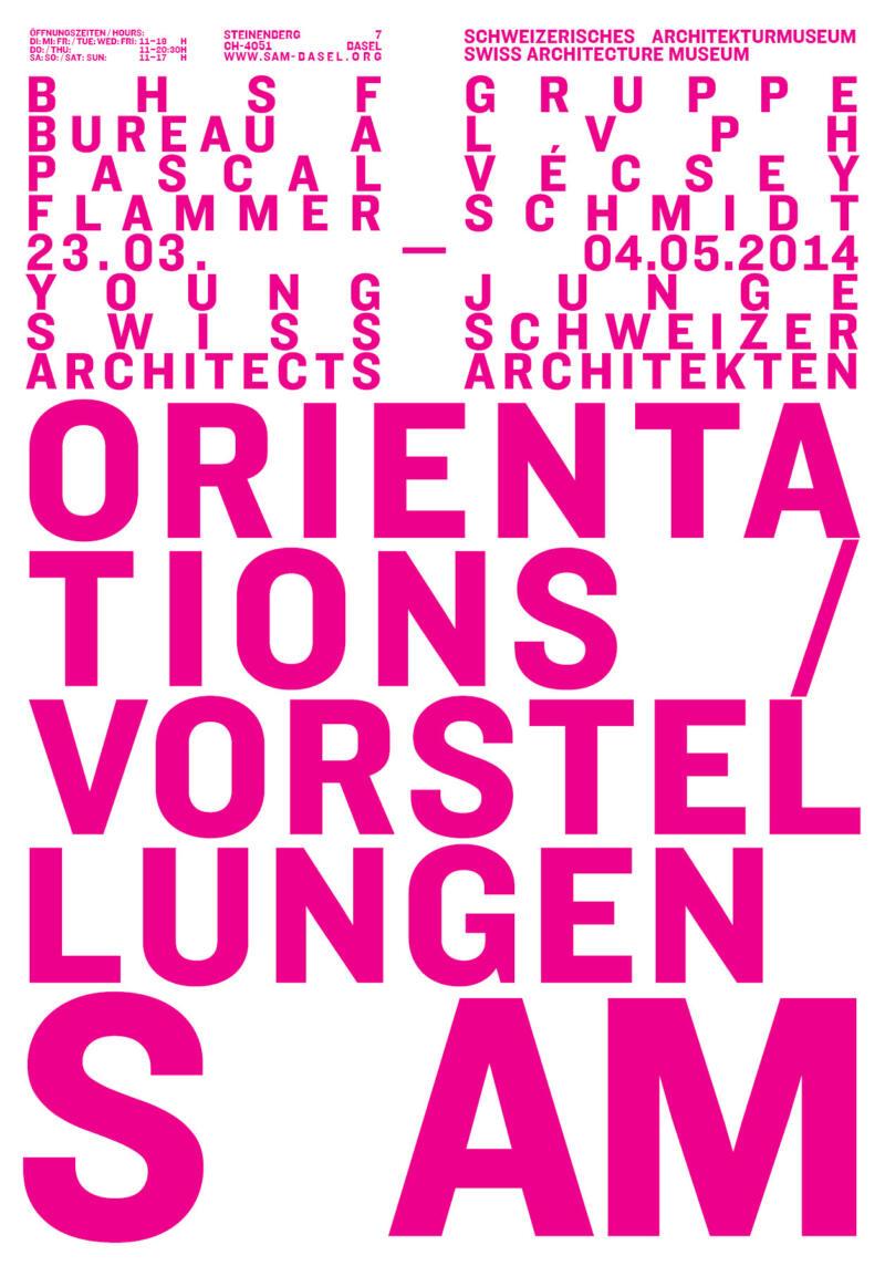 714-S AM Plakat «Vorstellungen - Junge Schweizer Architekten»