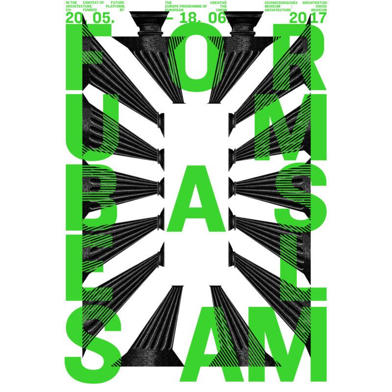 727 Plakat Ausstellung Forum Basel. Urbane Räume für gemeinschaftliches Leben