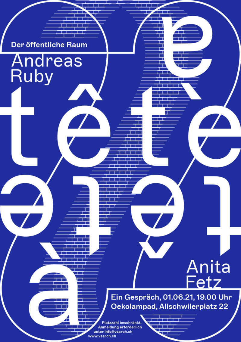 Flyer tete a tete Andreas Ruby Anita Fetz NEU